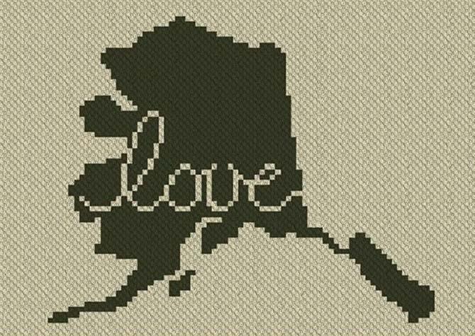 Alaska Love C2C Crochet Pattern