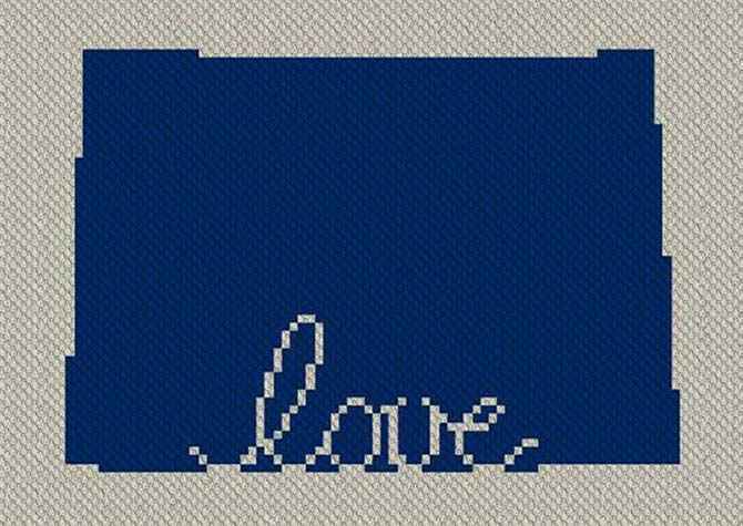 Colorado Love C2C Crochet Pattern