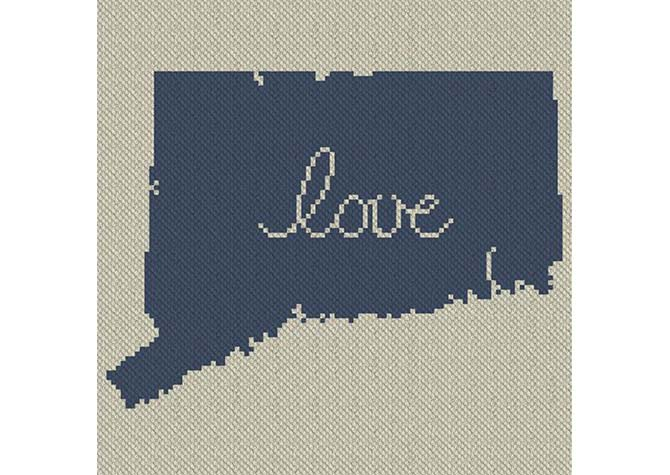 Connecticut Love C2C Afghan Crochet Pattern