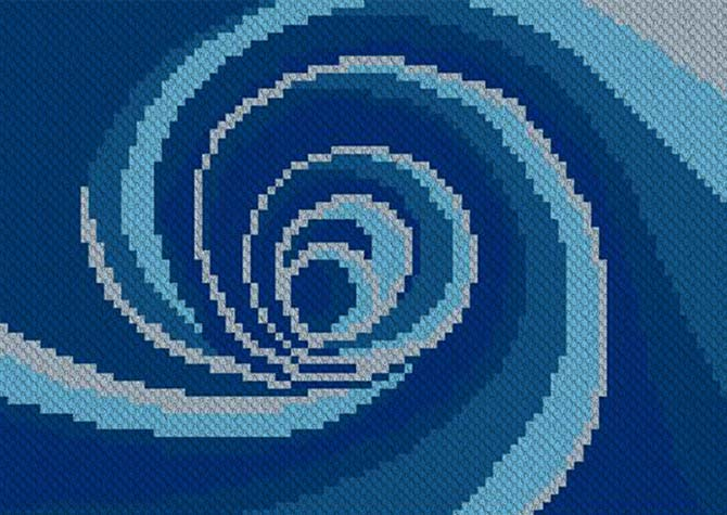 Down the Drain Down Under C2C Crochet Pattern