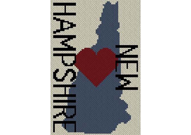 Heart New Hampshire C2C Afghan Crochet Pattern