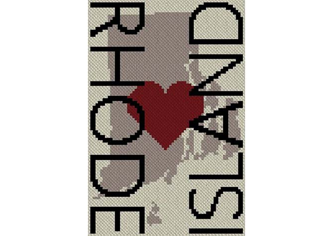 Heart Rhode Island  C2C Afghan Crochet Pattern