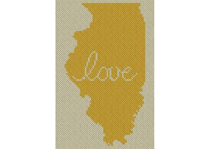 Illinois Love C2C Afghan Crochet Pattern