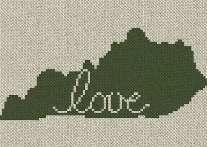 Kentucky Love C2C Crochet Pattern