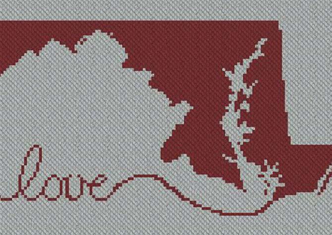 Maryland Love C2C Afghan Crochet Pattern