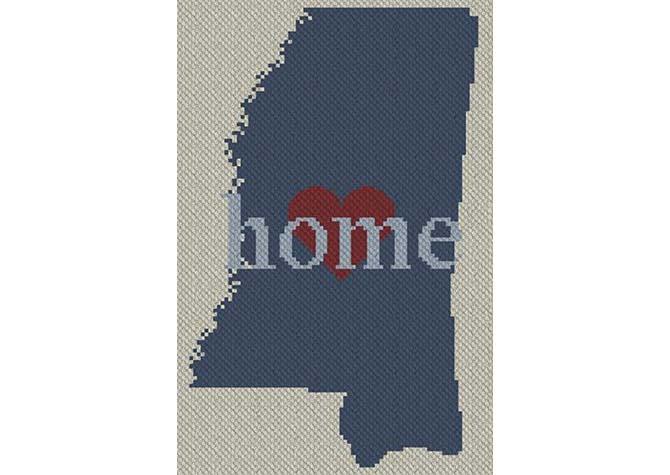 Mississippi Home C2C Afghan Crochet Pattern