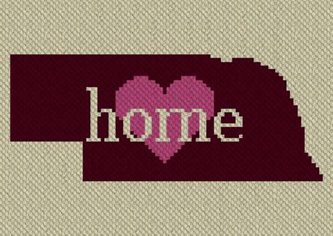 Nebraska Home C2C Crochet Pattern