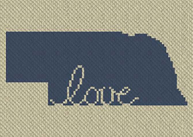 Nebraska Love C2C Crochet Pattern