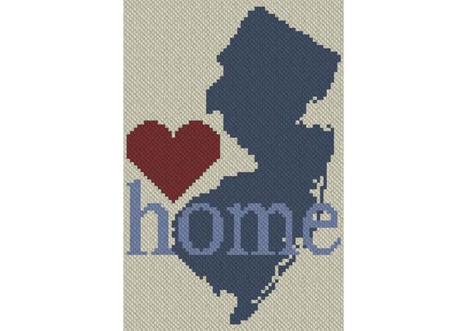 New Jersey Home C2C Afghan Crochet Pattern