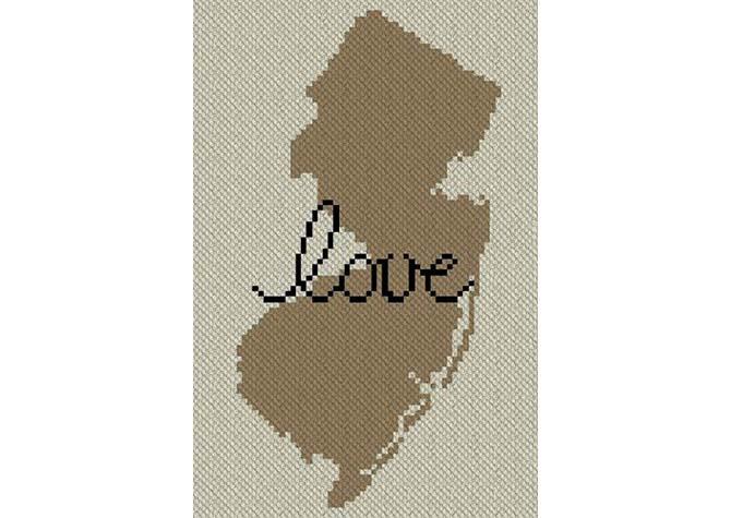 New Jersey Love C2C Afghan Crochet Pattern