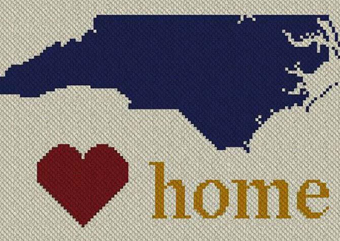 North Carolina Home C2C Afghan Crochet Pattern