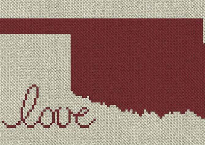 Oklahoma Love C2C Afghan Crochet Pattern