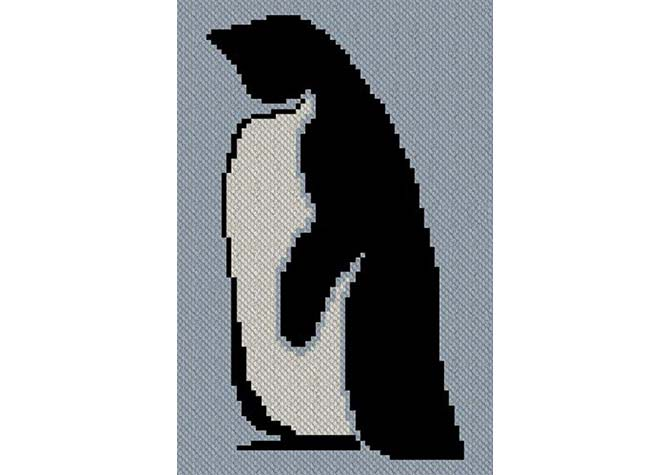 Sir Penguin C2C Afghan Crochet Pattern