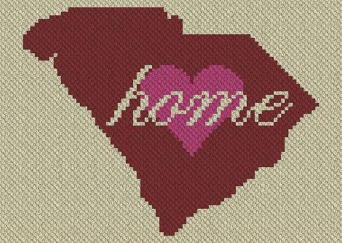 South Carolina Home C2C Crochet Pattern