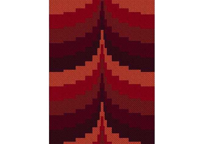 Stepping Sunset C2C Afghan Crochet Pattern