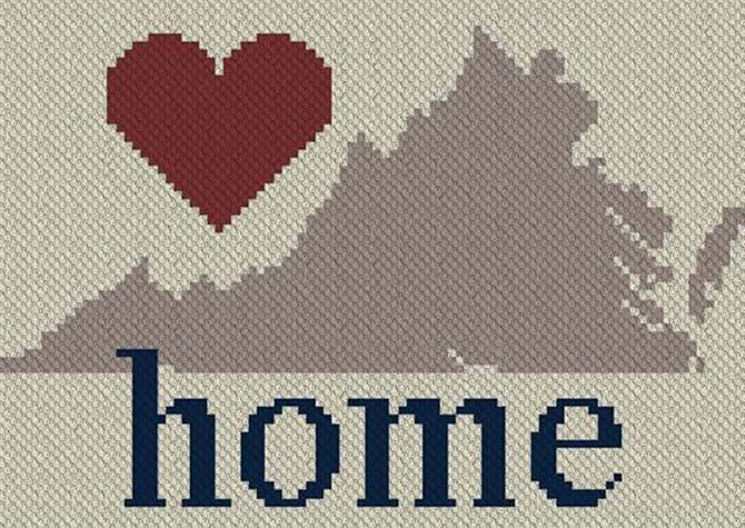 Virginia Home C2C Afghan Crochet Pattern
