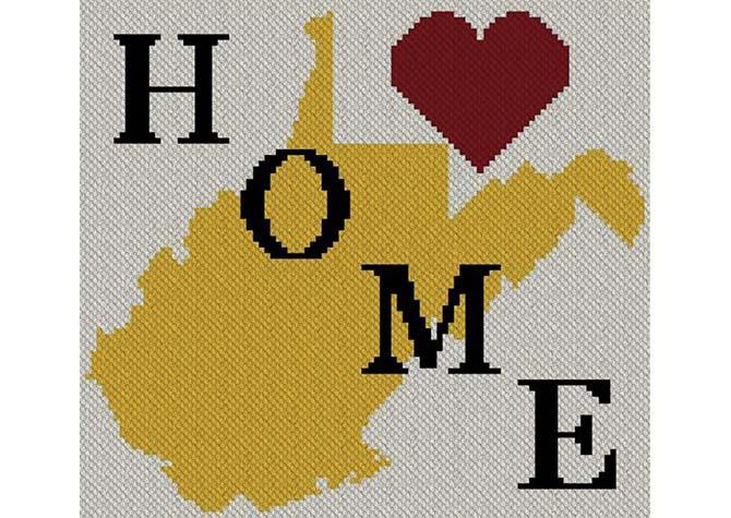 West Virginia Home C2C Afghan Crochet Pattern