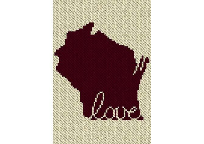 Wisconsin Love C2C Crochet Pattern