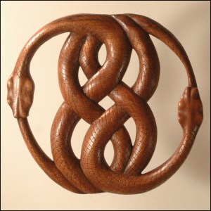 Celtic Snake Wood Figure