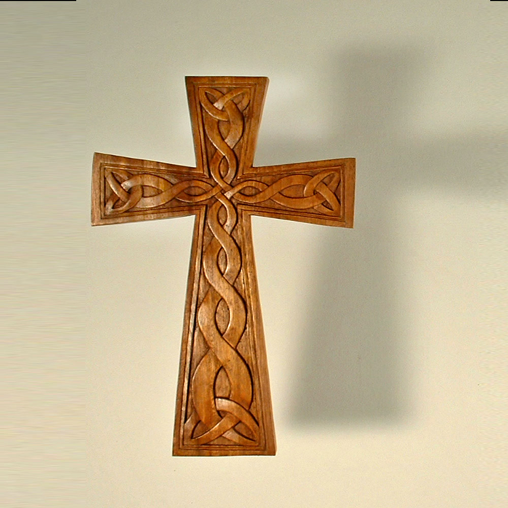 Cr celtic cross viking and lamp woodcraft