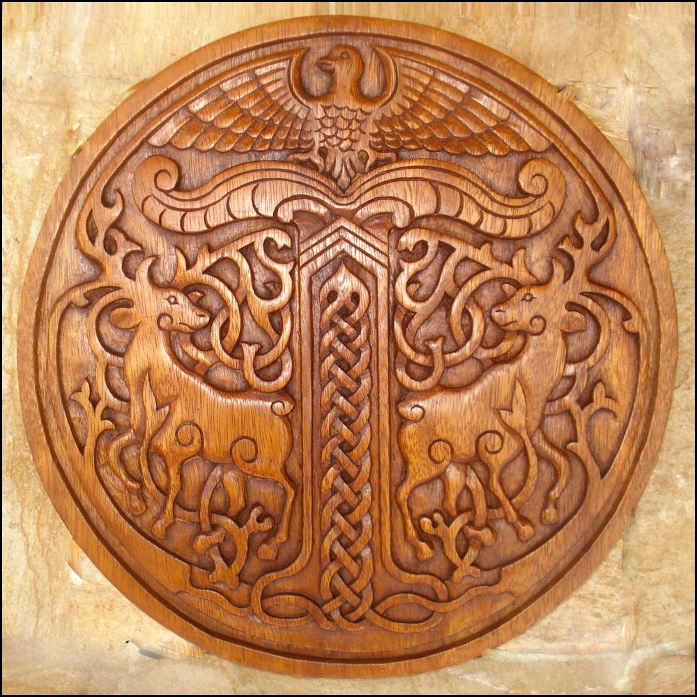 Vm viking deer and eagle plaque celtic