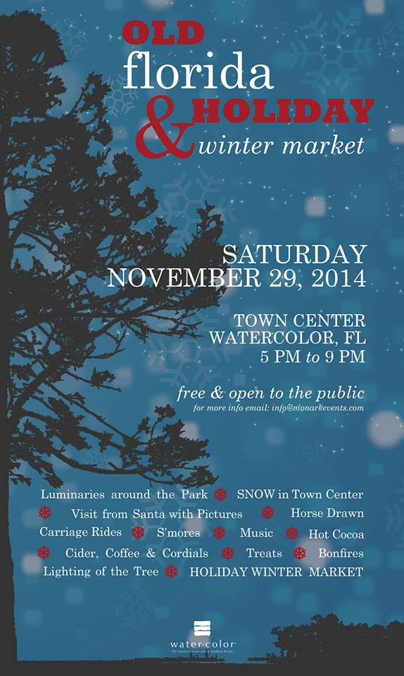Old Florida Holiday Market - 2014 Poster