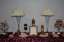 Desert buffet by Two Sweets Bake Shop. Floral by Bluegrass Chic.