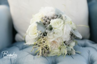 White penoy, brunia, astillbe, garden rose bridal bouquet - Bumby Photography