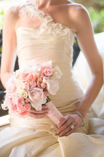 Peony, calla and spray rose bridal bouquet - Kathy Thomas Photography