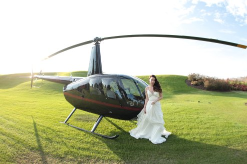 Falcon's Fire, arrival via helicopter for wedding