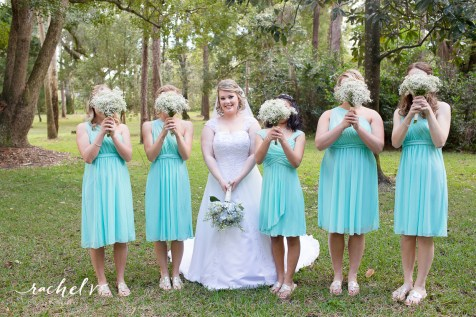 Babies breath Bride and her maids
