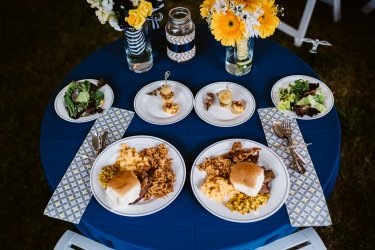 Perfect country dinner by 4Rivers Catering
