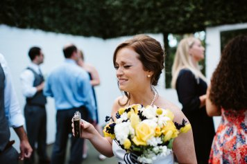 Flask and bouquet, my kind of wedding