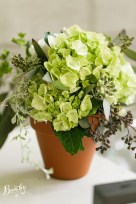 Vendella, Queens Ann, green hydra, bupleurum, white peony