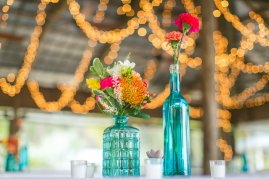 Paradise Cove; Wedding Reception; Carnations