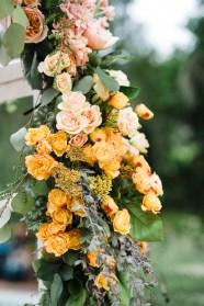 Watercolor Styled Shoot; Swanky I Dos; Purple, Yellow, Peach Stock, Roses, Acacia, Dendrodium