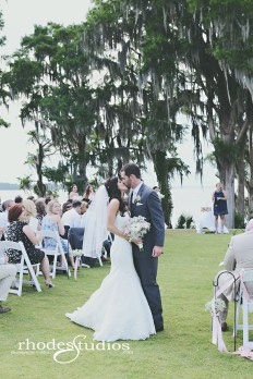 Bridal bouquet filled with babies breath and blush and white gerber daisies & babies breath filled lantern jars with streaming blush ribbons for the ceremony aisles.