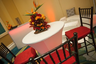 Fire theme for the VIP room at the PWG wedding expo