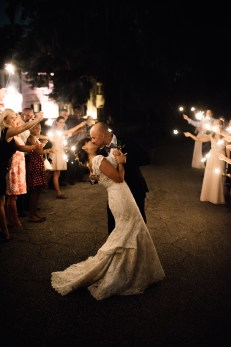 The sparkler exit was dreamy.