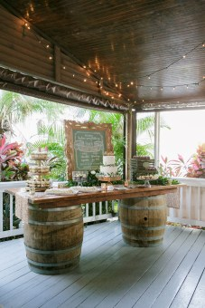 Dessert Buffet with chalk art and floral