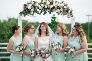 Soft purple, greens and white always work beautifully together