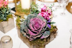jewel tone centerpiece, estate wedding, southern wedding, central florida florist, bluegrass chic, fairy garden, tree branch, centerpiece floral, cabbage floral, natural floral, greenery