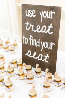 Pick your treat to find your seat for a cute escort cards.