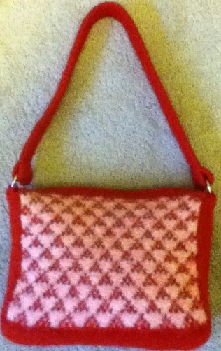 Red and White Purse Crop