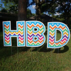 Happy Birthday - multi-chevron