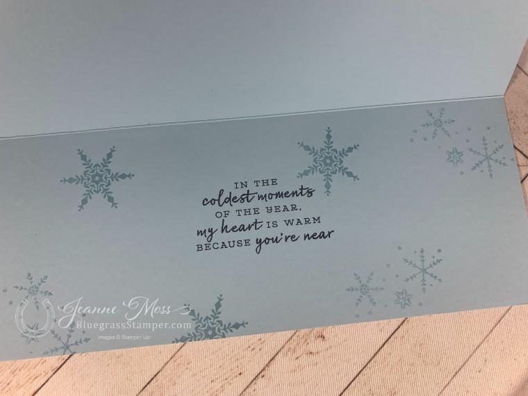 Snowflake Wishes Slimline Inside