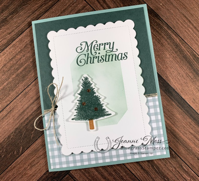 Perfect Plaid Christmas in July Card