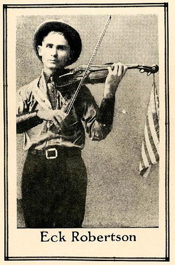 Eck Robertson, publicity photo, 1923.