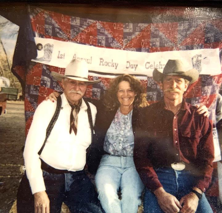 Rocky with Laura and Stony Tennant