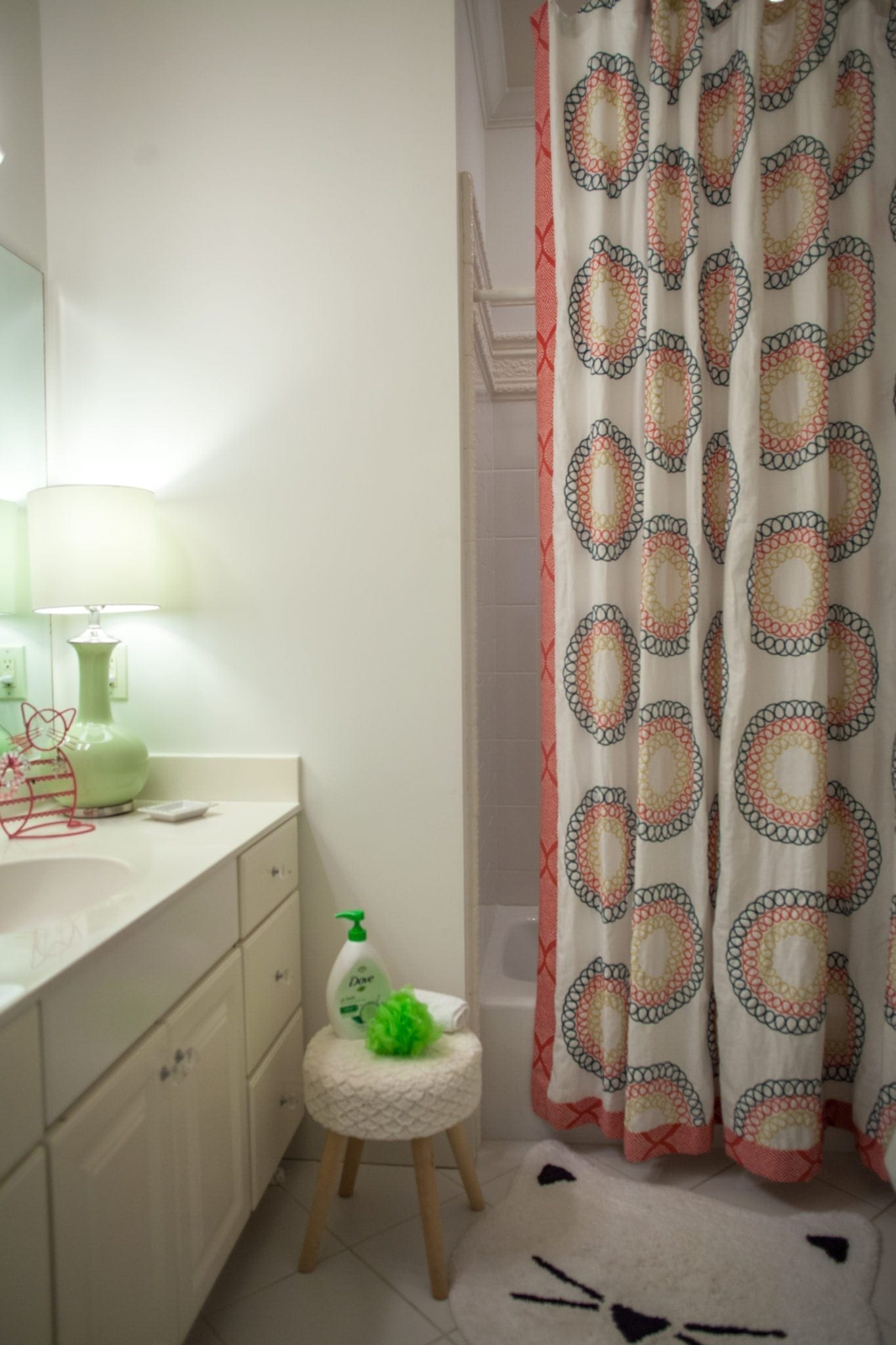 Girls Bathrooms Girls Bathroom Makeover From Loud To Fun Colorful I Bluegraygal